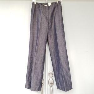Ann Taylor LOFT Julie Trouser Pants Chambray Sz 0